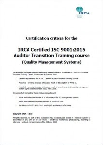 Iso 9001 Qms Training Iqcs Certification